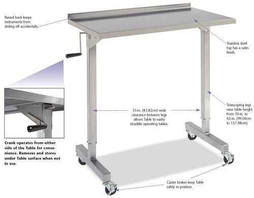 Stainless Over Instrument Table